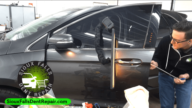Door Ding Dent Repair in Sioux Falls, SD – 2017 Ford Edge