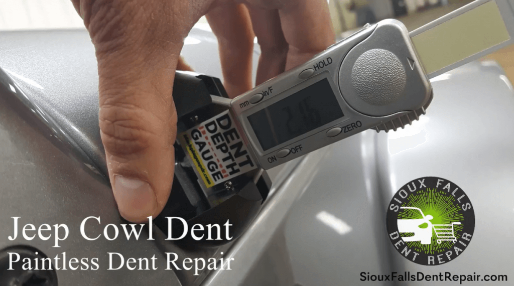 Jeep Cowl Dent paintless dent removal