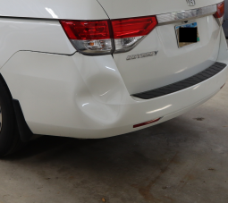 Honda Odyssey Bumper Repair Before- Sioux Falls Dent Removal