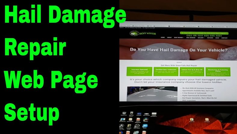 Hail Damage Repair Web Page Setup