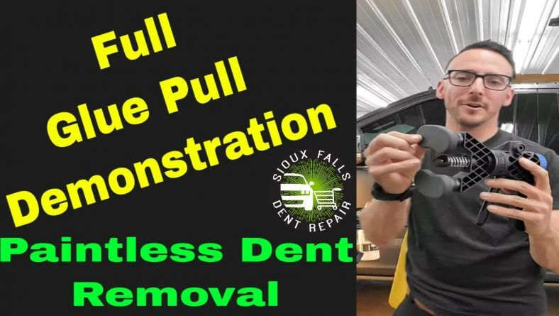 Full Glue Pull Demonstration for Paintless Dent Repair and Dent Removal
